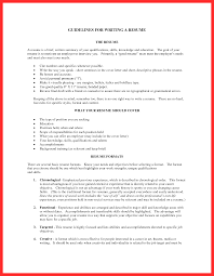 Brief Writing Sample Good Resume Format Resume For Study