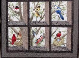 12 Block Fabric Panel Makes The Most Beautiful Bird Quilt ... & bird panel fabric with 12 blocks Adamdwight.com