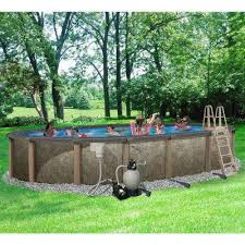 home swimming pools above ground.  Swimming Riviera 15 Ft X 30 Oval 54 In Deep 8 Throughout Home Swimming Pools Above Ground