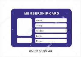 Membership Card Vector Free Download