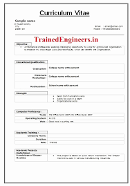 ... Diploma Mechanical Engineering Resume format Unique Resume format  Fresher Able Resume format for Mechanical ...
