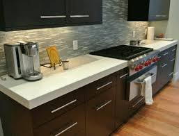 White concrete counter tops