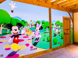 Mickey Mouse Clubhouse Bedroom Mickey Mouse Clubhouse Mural Sacredart Murals