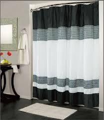 image of contemporary shower curtain black white