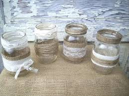 Decorating With Mason Jars And Burlap Mason Jar Centerpieces With Burlap Burlap Lace Mason Jar 4