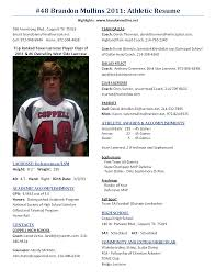Athletic Resume Athletic Resume For College Template Therpgmovie 1