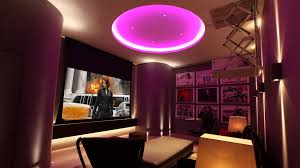home mood lighting. basement home cinema purple mood lighting b