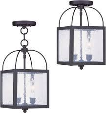 livex 4045 07 ord bronze indoor outdoor pendant lighting flush mount light fixture lvx 4045 07