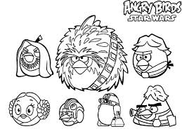 Small Picture Angry Birds Star Wars Characters Coloring Pages Batch Coloring