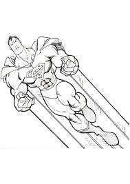 Original superman coloring pages to print and color. Superman Flying Coloring Page Free Printable Coloring Pages For Kids