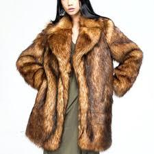 faux fox fur coat faux fox fur long coat woman black hair tip oversized thick parkas women collar winter fake fur coats women in faux fur from