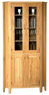 corner cabinet with glass door wooden corner cabinet cream wooden corner cabinet with glass door corner