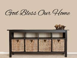 god bless our home sign vinyl wall decal house warming gift on bless our home wall art with 87 god bless our home wall decor click here for a larger view