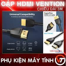 Cáp HDMI Vention mỏng nhẹ hỗ trợ 4K Độ dài 3m ( Dây HDMI 3m ) - Hàng chất  lượng cao ! giảm tiếp 110,000đ