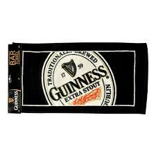 guinness label bar towel