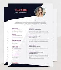 Resume Template With Photo Askella FREE Resume Template RockStarCVFriday 100th April 100 39