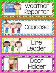 Classroom Helpers Chart Classroom Helpers Clip Chart Preschool Classroom