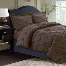 brown duvet cover queen. Perfect Queen Tribeca Living Sydney Pintuck Twin Duvet Cover Set In Chocolate On Brown Queen Bed Bath And Beyond Canada