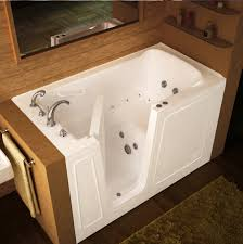 many times you will see advertisements on television or in the newspaper about walk in tubs and how many older people