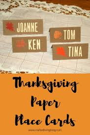 make these easy diy thanksgiving place cards to complete your table setting by following the
