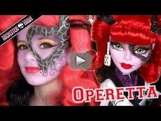 operetta monster high doll costume makeup tutorial for cosplay or emma shows you how to do your costume cosplay makeup like monster