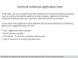 Electrician Cover Letter Electrician Cover Letters Master Electrician Cover Letter 100