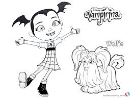 Vampirina Coloring Pages Vampirina And Wolfie Free Printable