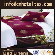 5 star hotel bed runner for sheraton skirt bedspread