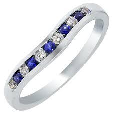 Curved Wedding Bands Inside Estate Curved Diamond Platinum