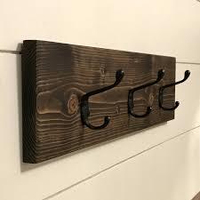 coat hooks rack rustic wooden wood wall entryway storage hook towel racks