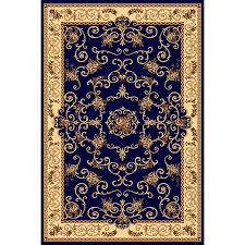 rugs america new vision souvanerie navy indoor area rug common 8 x 10