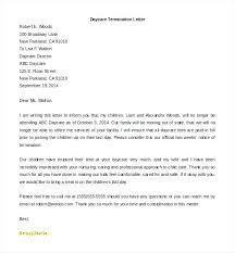Daycare Cancellation Letter Oliviajane Co