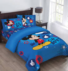 blue mickey mouse toddler bedding set