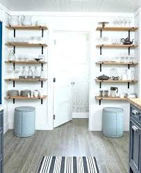 wall mounted shelves for kitchen ceiling double bowl sink
