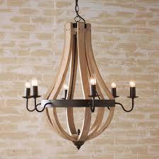 wooden chandeliers wooden wine barrel stave chandelier
