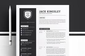 Minimalist Resume Cv Template Resume Templates Creative Market