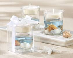 seashell gel tealight holder beach wedding favor