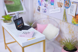 let s make a diy barbie style inspired office with all the fixins make a real working doll planner with a complete 2019 calendar printable