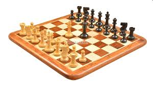 Old Wooden Board Games of Old Vintage English Staunton Series Chess Pieces in Dyed wood 83