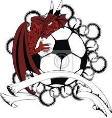 Fototapeta Drak Hřeben Erb Tetování Fotbalový Míč