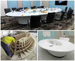 modern contemporary large oval round custom office executive conference room table
