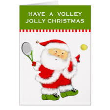 Tennis Christmas cards