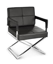 Schwarzer Leder Esstisch Stuhl Mit Armlehne Neuerraum