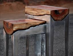wood stump furniture. carob wood casting hilla shamia stump furniture