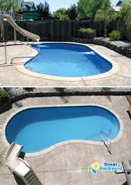Medium Pool Designs Columbia Kidney Fiberglass Pool Pool Remodel Simple Pool