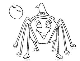 Small Picture Halloween Spider Coloring Pages Festival Collections
