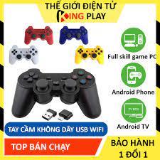 Tay cầm chơi game PC Laptop, Điện Thoại, TV Android, TV Box, PS3 - Tay cầm chơi  game không dây 706 - Full skill Fo4, Pes - Phụ kiện console