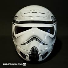 custom stormtrooper motorcycle helmet star wars pinterest