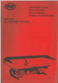 Kuhn Fertiliser Spreader Mds1141 Calibration Charts Manual