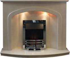 glasgow marble fireplace and gas fire